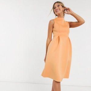 ASOS high neck sleeveless dress w/ lace up back